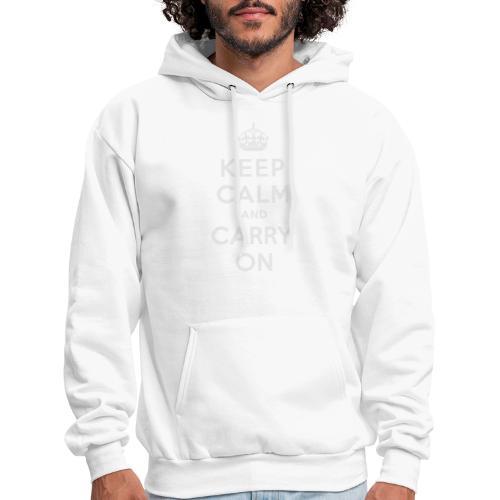 Keep Calm and Carry On Ladies Sweatshirt - Men's Hoodie