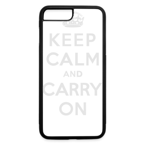 Keep Calm and Carry On Ladies Sweatshirt - iPhone 7 Plus/8 Plus Rubber Case