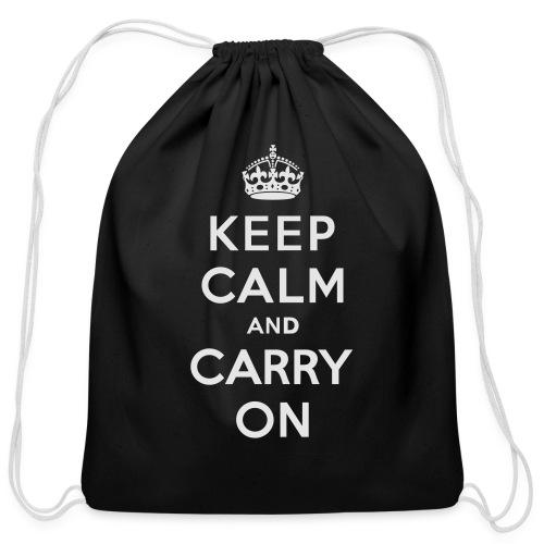 Keep Calm and Carry On Ladies Sweatshirt - Cotton Drawstring Bag