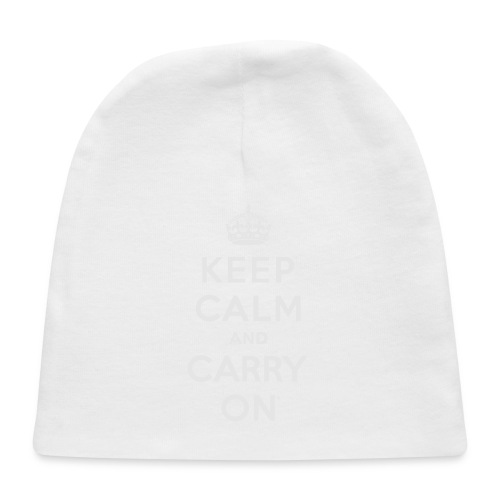 Keep Calm and Carry On Ladies Sweatshirt - Baby Cap