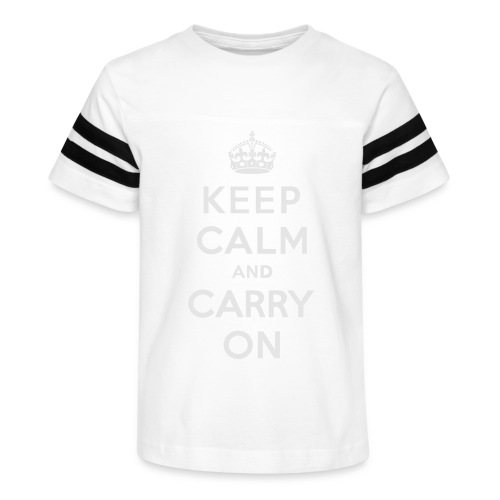 Keep Calm and Carry On Ladies Sweatshirt - Kid's Vintage Sport T-Shirt