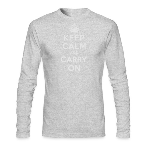 Keep Calm and Carry On Ladies Sweatshirt - Men's Long Sleeve T-Shirt by Next Level