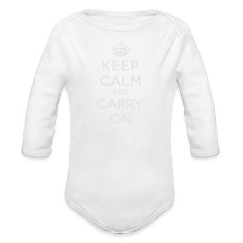 Keep Calm and Carry On Ladies Sweatshirt - Organic Long Sleeve Baby Bodysuit