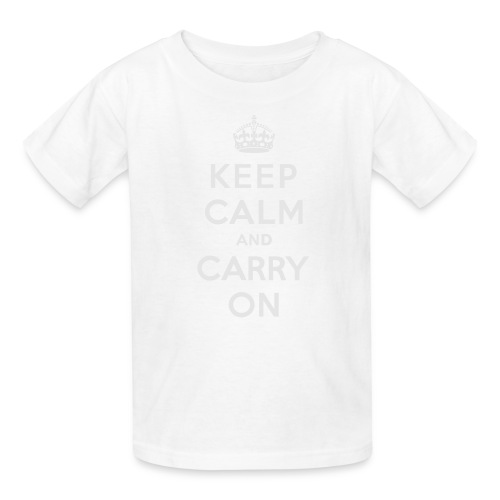 Keep Calm and Carry On Ladies Sweatshirt - Kids' T-Shirt