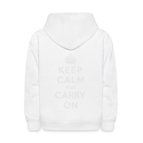 Keep Calm and Carry On Ladies Sweatshirt - Kids' Hoodie