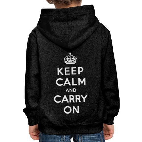 Keep Calm and Carry On Ladies Sweatshirt - Kids' Premium Hoodie