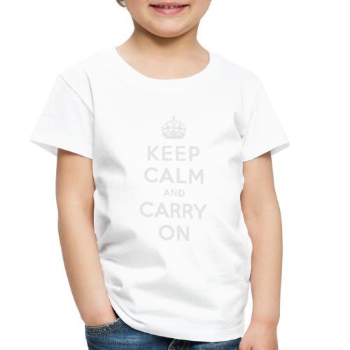 Keep Calm and Carry On Ladies Sweatshirt - Toddler Premium T-Shirt
