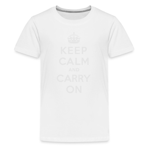 Keep Calm and Carry On Ladies Sweatshirt - Kids' Premium T-Shirt