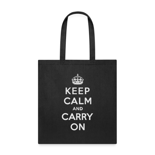 Keep Calm and Carry On Ladies Sweatshirt - Tote Bag