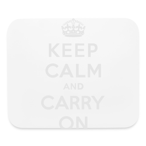 Keep Calm and Carry On Ladies Sweatshirt - Mouse pad Horizontal