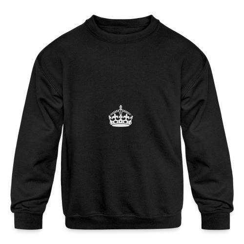 Keep Calm and Carry On Crown - Kids' Crewneck Sweatshirt