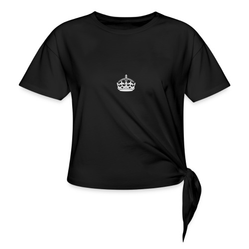 Keep Calm and Carry On Crown - Women's Knotted T-Shirt