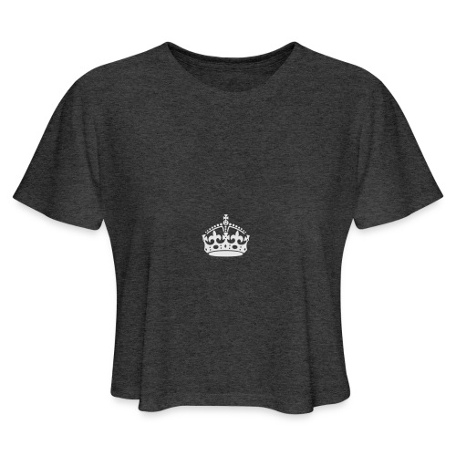 Keep Calm and Carry On Crown - Women's Cropped T-Shirt
