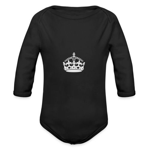 Keep Calm and Carry On Crown - Organic Long Sleeve Baby Bodysuit