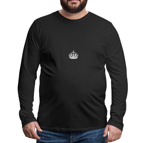 Keep Calm and Carry On Crown - Men's Premium Long Sleeve T-Shirt