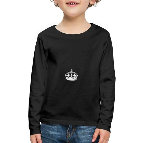 Keep Calm and Carry On Crown - Kids' Premium Long Sleeve T-Shirt
