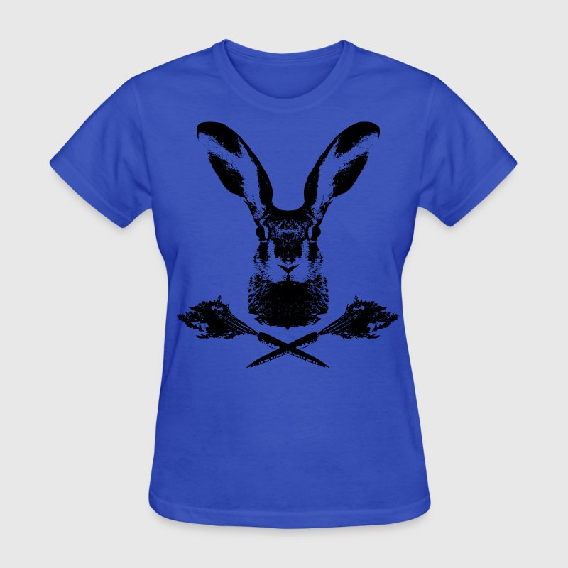rabbit wild hare cony leveret coney pet jack rabbit carrot bunny bunnies lepus Women's T-Shirts - Women's T-Shirt