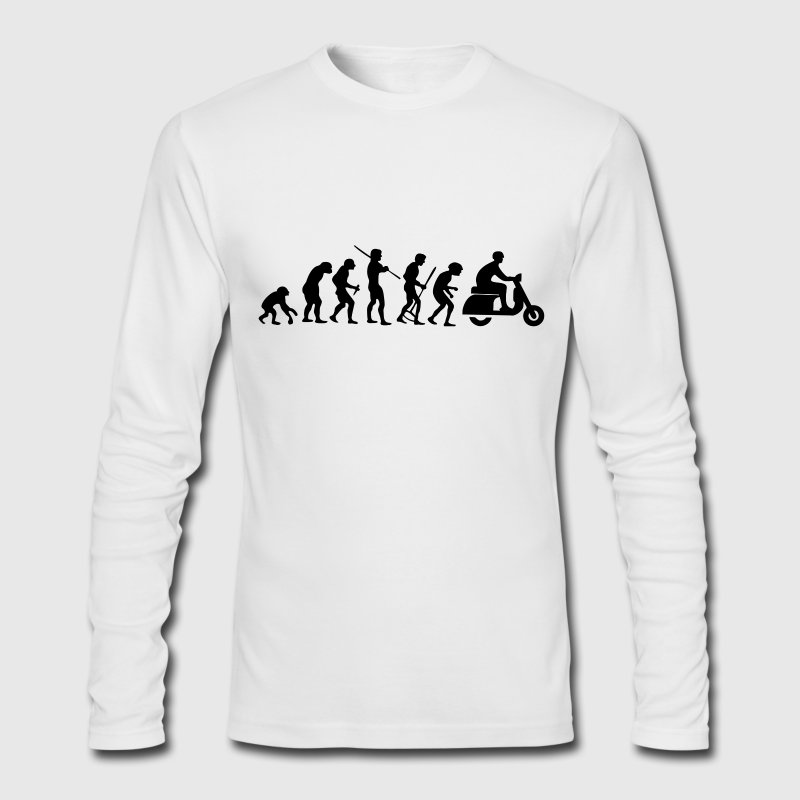 Motorcycle Rider Evolution Scooter Vespa - Men's Long Sleeve T-Shirt by Next Level