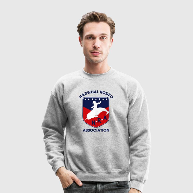 Narwhal Rodeo Association Long Sleeve Shirts - Crewneck Sweatshirt