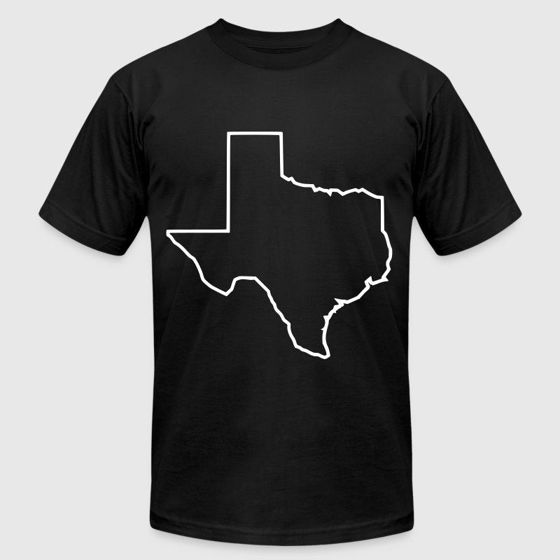 Texas white outline - Men's T-Shirt by American Apparel