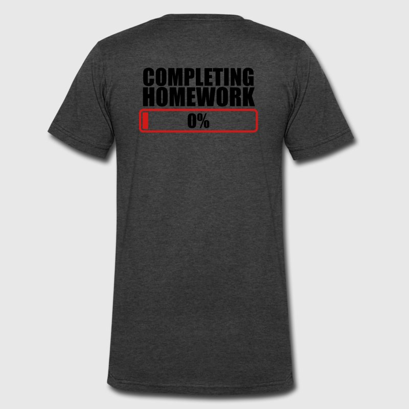 COMPLETING HOMEWORK ZERO 0 % T-Shirts - Men's V-Neck T-Shirt by Canvas