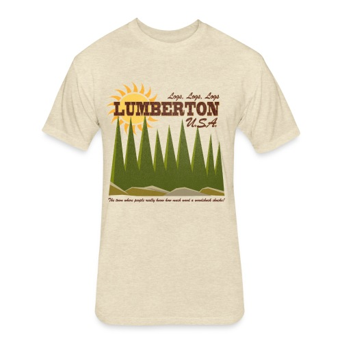 Lumberton, USA - Fitted Cotton/Poly T-Shirt by Next Level