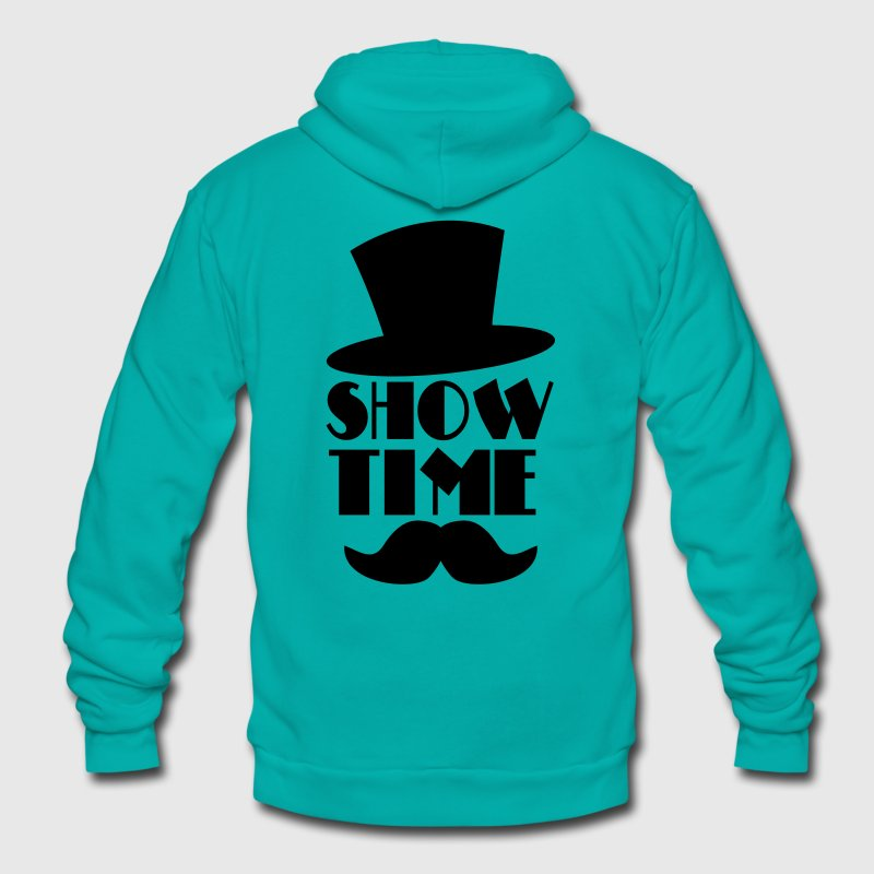 SHOW TIME MAGIC hat and moustache Zip Hoodies/Jackets - Unisex Fleece Zip Hoodie by American Apparel