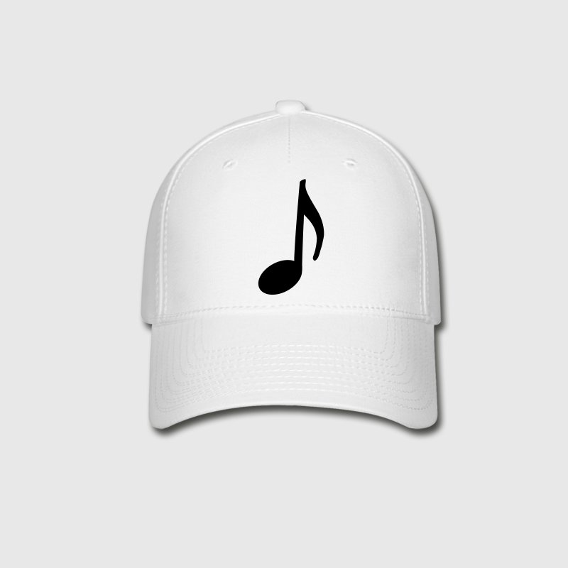 Music Note Hat (Black Note) - Baseball Cap