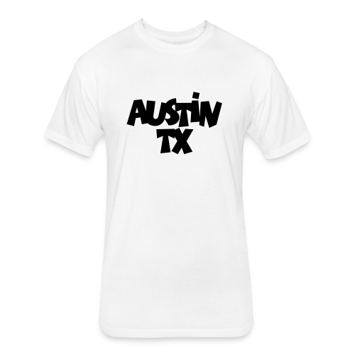 Austin TX Hoodie - Fitted Cotton/Poly T-Shirt by Next Level