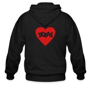 I Love Texas T-Shirt - Men's Zip Hoodie