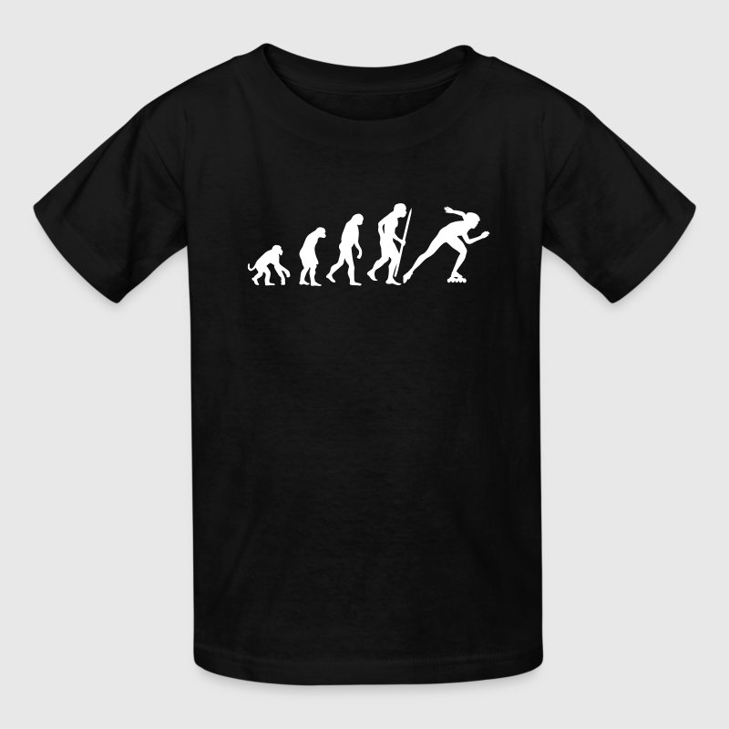 Evolution of inline speed skating  Kids' Shirts - Kids' T-Shirt