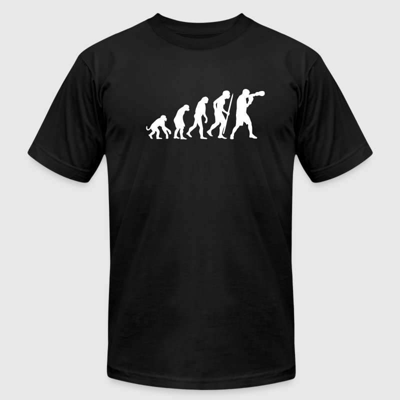 Evolution of boxing T-Shirts - Men's T-Shirt by American Apparel