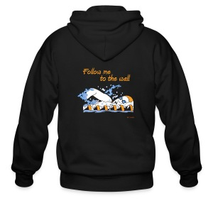 Follow me to the wall - long sleeve - Men's Zip Hoodie
