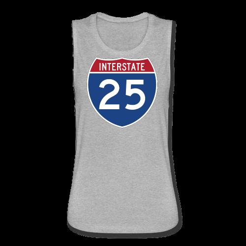 Interstate 25 - Mens - Women's Flowy Muscle Tank by Bella