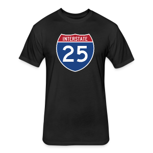Interstate 25 - Mens - Fitted Cotton/Poly T-Shirt by Next Level