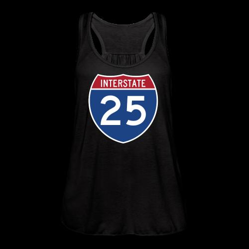 Interstate 25 - Mens - Women's Flowy Tank Top by Bella