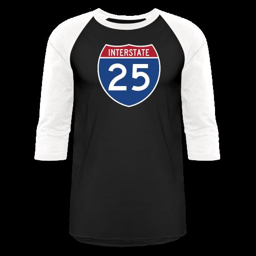 Interstate 25 - Mens - Baseball T-Shirt