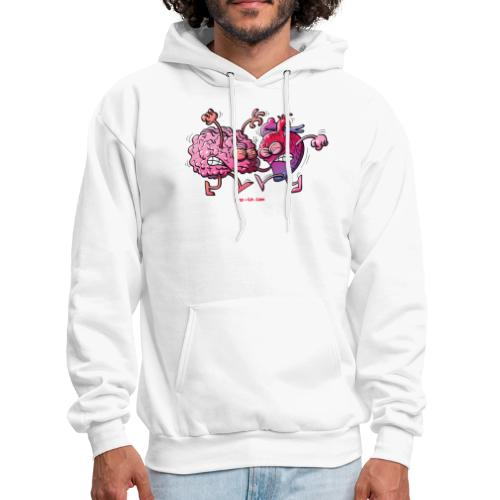 Heart vs Brain - Men's Hoodie