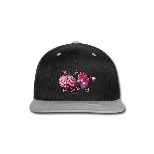 Heart vs Brain - Snap-back Baseball Cap