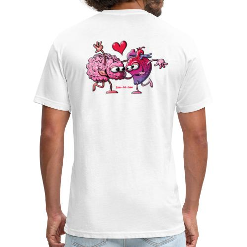 Heart and Brain: A Love Story - Fitted Cotton/Poly T-Shirt by Next Level