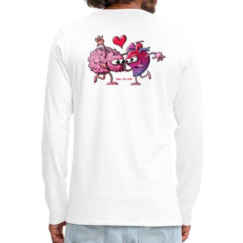 Heart and Brain: A Love Story - Men's Premium Long Sleeve T-Shirt