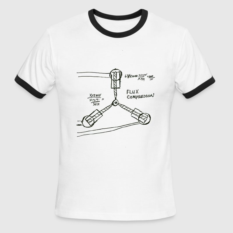 1.21 Gigawatts Flux Capacitor T-Shirt - From Back to the Future - Men's Ringer T-Shirt