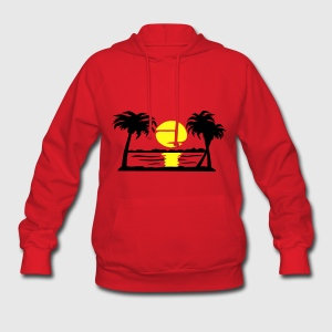Summer Dream, Paradise, Palm Trees, Beach and Sun Women's T-Shirts - Women's Hoodie