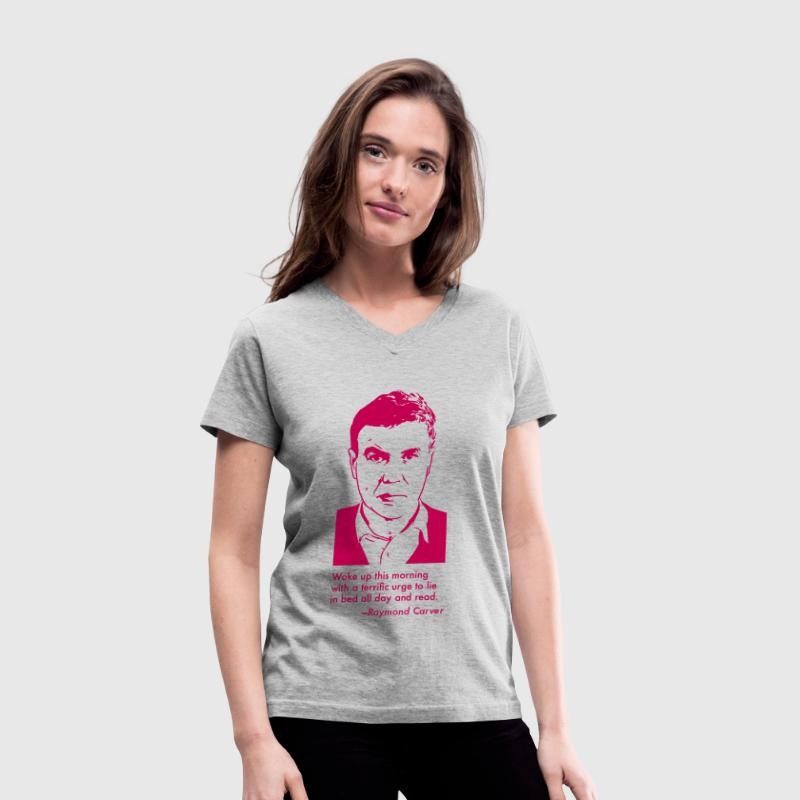 Raymond Carver Portrait & Quotation (Women's T-Shirt) - Women's V-Neck T-Shirt