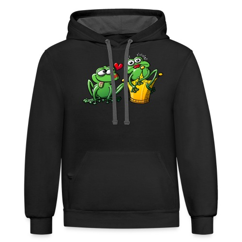 Princess is a Frog Now - Contrast Hoodie