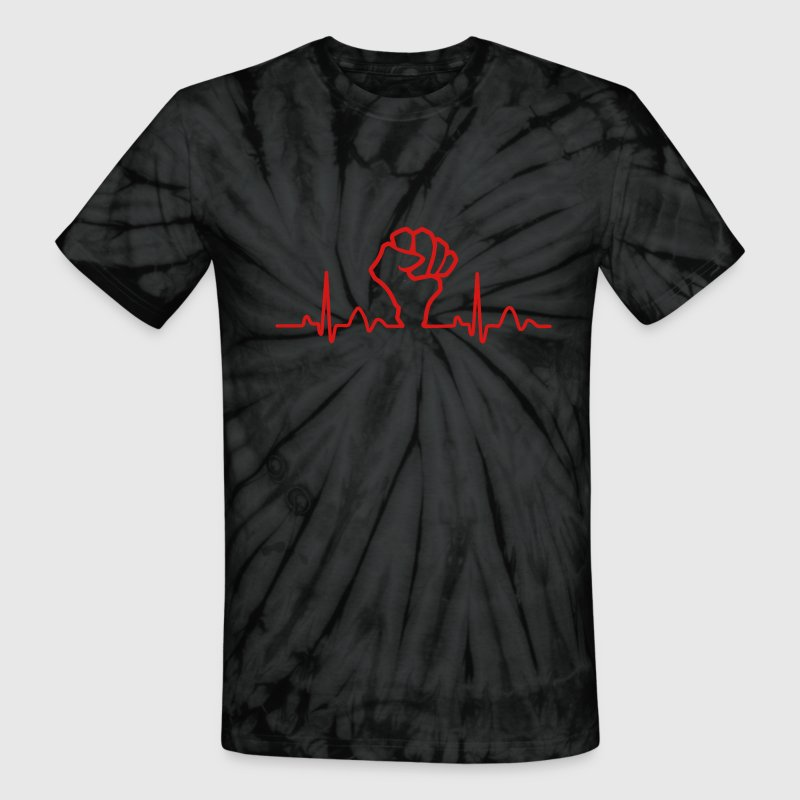 Lines of Heart Fist electrocardiogram heart pulse T-Shirts - Unisex Tie Dye T-Shirt
