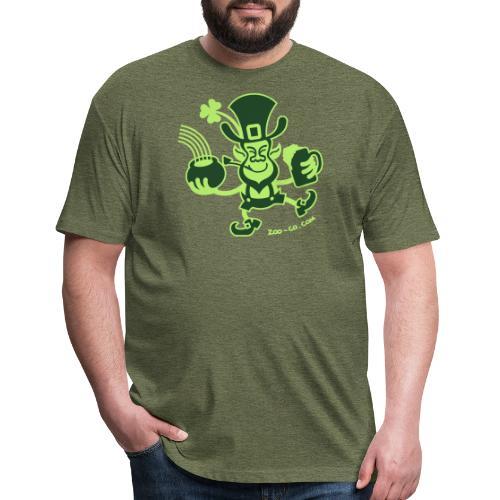 Saint Patrick's Leprechaun - Fitted Cotton/Poly T-Shirt by Next Level