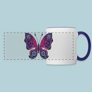 Tribal Butterfly - Panoramic Mug