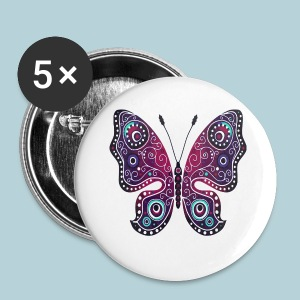 Tribal Butterfly - Small Buttons