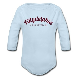 Fillydelphia - Long Sleeve Baby Bodysuit